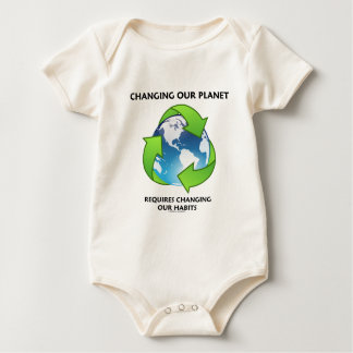 Changing Our Planet Requires Changing Our Habits Baby Bodysuit