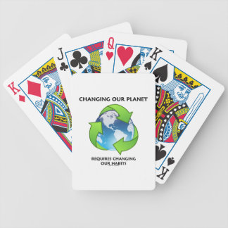 Changing Our Planet Requires Changing Our Habits Bicycle Playing Cards