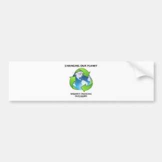 Changing Our Planet Requires Changing Our Habits Bumper Sticker