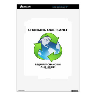 Changing Our Planet Requires Changing Our Habits iPad 2 Decals