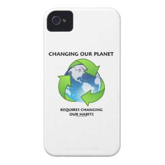 Changing Our Planet Requires Changing Our Habits iPhone 4 Case-Mate Cases
