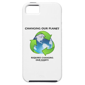 Changing Our Planet Requires Changing Our Habits iPhone SE/5/5s Case