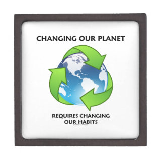 Changing Our Planet Requires Changing Our Habits Jewelry Box