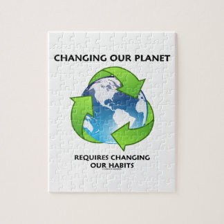Changing Our Planet Requires Changing Our Habits Jigsaw Puzzle
