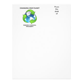Changing Our Planet Requires Changing Our Habits Letterhead