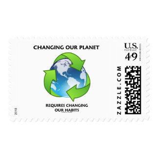 Changing Our Planet Requires Changing Our Habits Postage