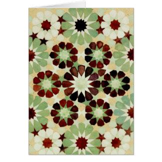 'Changing Seasons' Islamic geometry greeting card