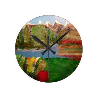 Changing Seasons Round Clock