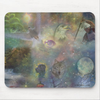 Changing Seasons - Spring Summer Winter Fall Mouse Pad