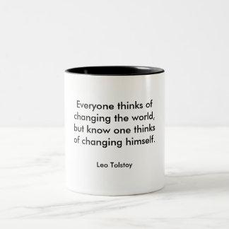 Changing the world Two-Tone coffee mug