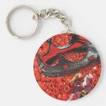 chango caballo basic round button keychain
