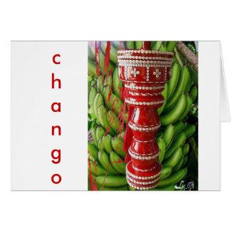 CHANGO RACIMO BATEA GREETING CARD