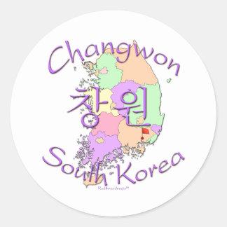 Changwon South Korea Sticker