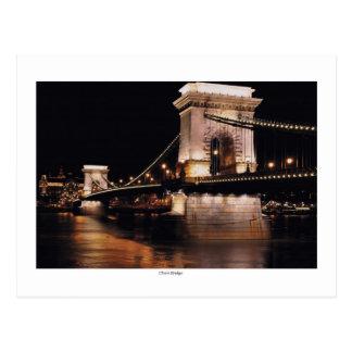 Chani Bridge at night Postcard