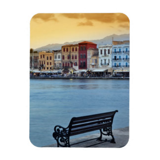 Chania at dusk, Chania, Crete, Greece Magnet