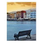 Chania en la oscuridad, Chania, Creta, Grecia Postal