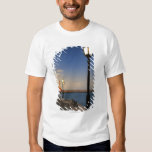 Chania Harbor and Venetian lighthouse at sunset T Shirt