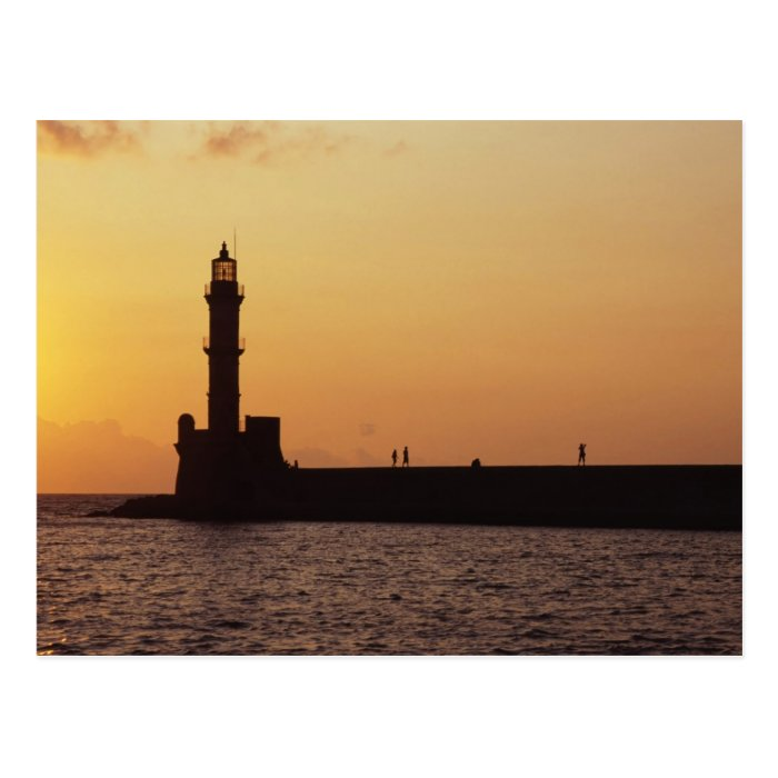 Chania Lighthouse Postcard