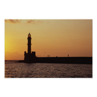 Chania Lighthouse Poster
