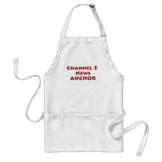 Channel 5 News Anchor Adult Apron