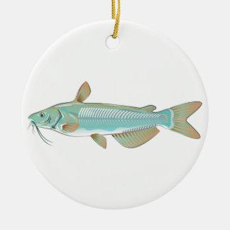 Channel catfish game fish farm fish seafood market ceramic ornament
