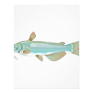 Channel catfish game fish farm fish seafood market letterhead