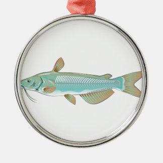 Channel catfish game fish farm fish seafood market metal ornament