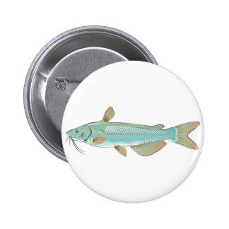 Channel catfish game fish farm fish seafood market pinback button