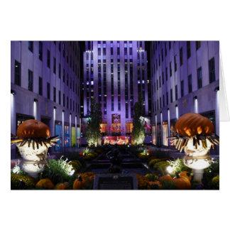Channel Gardens Rockefeller Center New York City Card