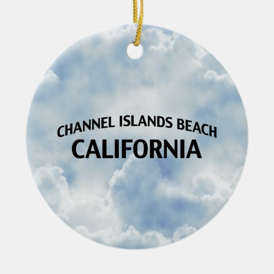 Channel Islands Beach California Ceramic Ornament