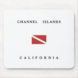 Channel Islands California Scuba Dive Flag Mouse Pad