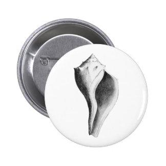 Channeled Whelk (line art) Pinback Button