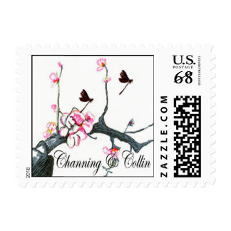 Channing & Collin peach blossom stamp 3