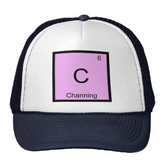 Channing Name Chemistry Element Periodic Table Trucker Hat