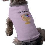 Channukah feliz Menora/Chanukia Camisetas De Perro