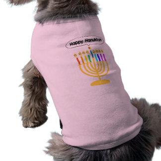 Channukah feliz Menora Chanukia Camisetas De Perro