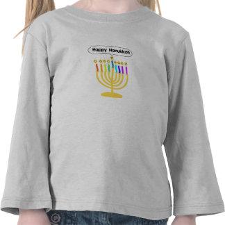 Channukah feliz Menora/Chanukia Camisetas