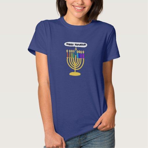 Channukah feliz Menora/Chanukia T Shirts