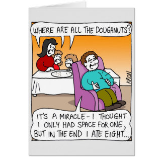Channukah Greeting Card - Miracle of Doughnuts