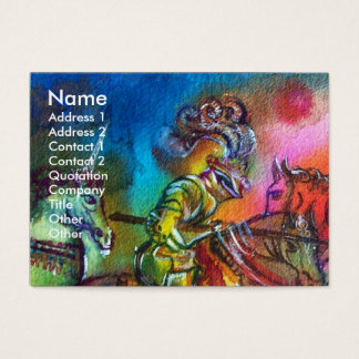 CHANSON DE ROLAND/ COMBAT OF KNIGHTS IN TOURNMENT BUSINESS CARD