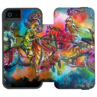 CHANSON DE ROLAND/ COMBAT OF KNIGHTS IN TOURNMENT INCIPIO WATSON™ iPhone 5 WALLET CASE