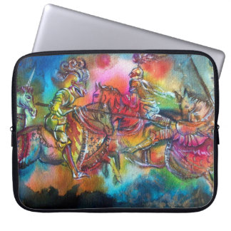 CHANSON DE ROLAND/ COMBAT OF KNIGHTS IN TOURNMENT LAPTOP SLEEVE