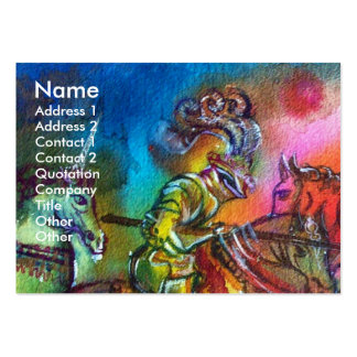 CHANSON DE ROLAND/ COMBAT OF KNIGHTS IN TOURNMENT LARGE BUSINESS CARDS (Pack OF 100)