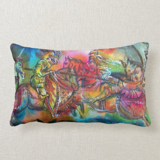 CHANSON DE ROLAND/ COMBAT OF KNIGHTS IN TOURNMENT THROW PILLOW