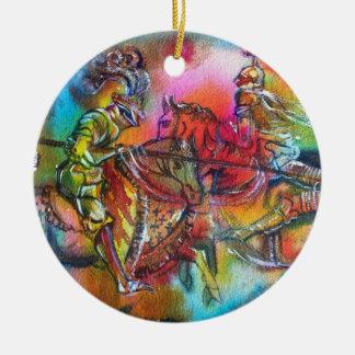 CHANSON DE ROLAND Double-Sided CERAMIC ROUND CHRISTMAS ORNAMENT