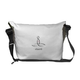 Chant - Black Fancy style Courier Bag