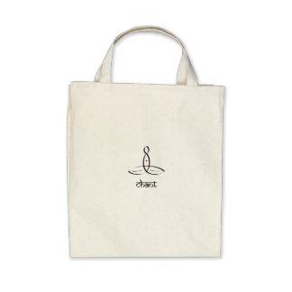 Chant - Black Sanskrit style Tote Bag