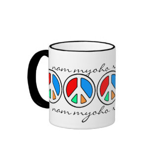 CHANT FOR PEACE... RINGER COFFEE MUG