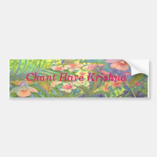 Chant Hare Krishna Car Bumper Sticker