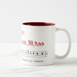 Chant: it's what's for Mass Two-Tone Coffee Mug